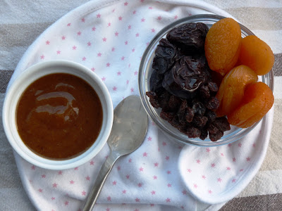 Raisin and apricot purée